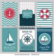 pattern nautical elements text sailor stock vector 389944132