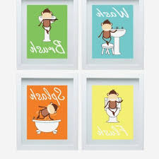 kids bathroom art hang your towelu0027 u0027flush when done