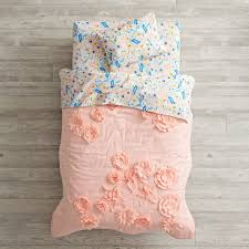 Land Of Nod Girls Bedding by Floral Rush Toddler Bedding The Land Of Nod