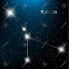Zodiac Sign Cancer Vector Zodiac Sign Bright Stars In Cosmos Royalty Free