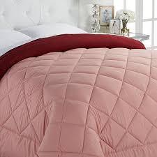 Pink Down Comforter Concierge Collection Reversible Down Alternative Diamond Comforter