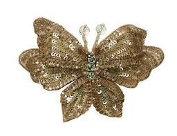 butterfly hair clip tutu du monde butterfly hair clip in gold for rent the borrowed