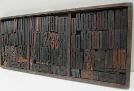 industrial vintage wooden letters u0026 numbers printing blocks for