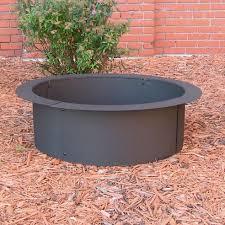 round steel fire pit round designs