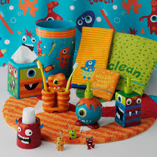 jumping bean monster bath accessories from kohl s little boys 10 little boys bathroom design ideas shelterness