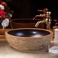 ceramic engraving china artistic handmade engraving ceramic wash basin lavobo