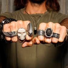 baby silver rings images Mens ring band skull chief ring king baby sterling silver tribal jpg