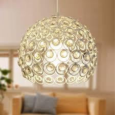 Pendant Lights For Living Room Crystal Metal Material Round Pendant Lights For Living Room
