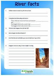 river facts comprehension rivers worksheets ks2 rainforest