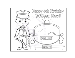 personalized printable policeman birthday party favor