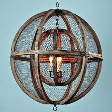 double sphere wire chandelier shades light