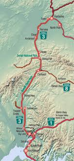 map of the parks highway in alaska