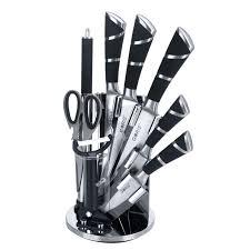 stainless steel kitchen knives set gsl 02g 9 hoof handle stainless steel kitchen cutlery