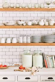 Floating Shelves Kitchen by Tour Lauren Conrad U0027s Elegant Light Filled Home In The Pacific