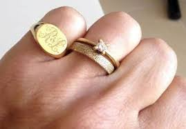 signet wedding ring signet rings for men are back even gq magazine vouched for it