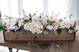 Floral Arrangement Diy Faux Floral Arrangement Feminine Yet Rustic Crate