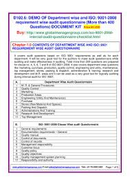 iso 9001 audit checklist pdf flipbook