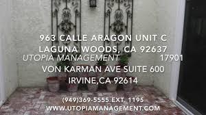 laguna woods property management company 963 calle aragon unit c