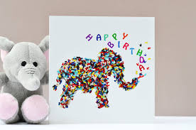elephant butterfly birthday card by inkywool butterfly