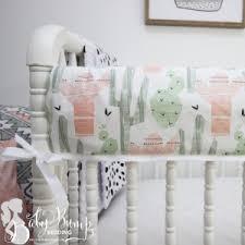 Neutral Nursery Bedding Sets Cactus Baby Crib Bedding Sets Dessert Nursery Decor