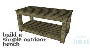 Plans For Making A Wooden Bench by Easy To Build Seating For The Outdoors U2013 Designs By Studio C