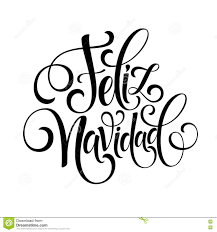 feliz navidad hand lettering decoration text for greeting card