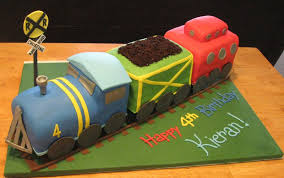 3d train cake for a boys birthday b lovely events