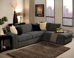 Sectional Sofa With Chaise 2 Pc Cachet Shark Fabric