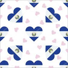 Salvadoran Flag El Salvador Independence Day Seamless Pattern U2014 Stock Vector