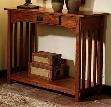 Oak Sofa Table Living Room Furniture Mission Furniture Craftsman Furniture
