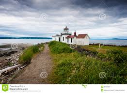 Discovery Park Seattle Map by Discovery Park Lighthouse Royalty Free Stock Photography Image
