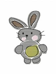 bunny 150 sketch embroidery design easter sketch embroidery