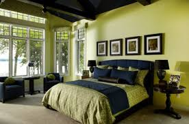 Exotic Dark Interior With Large Glass Window Facing Blue Motif - Exotic bedroom designs