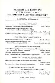 Resume Espanol Mineralogical Society Of America Minerals And Reactions At The