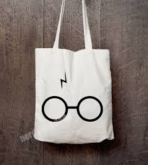 Harry Potter Bathroom Accessories Harry Potter Inspired Canvas Tote Bag Harry Potter Scar And