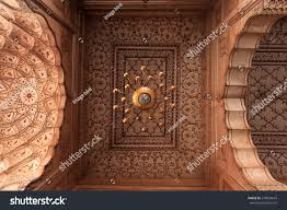 arch design inside badshahi mosque lahore stock photo 279094643