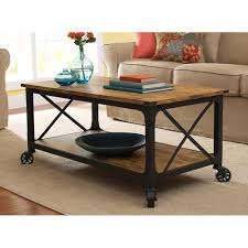 wood coffee table with wheels better homes and gardens rustic country coffee table antiqued black