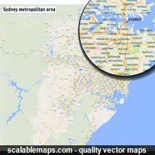 sydney australia map scalablemaps vector maps of sydney for illustrator