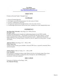 exle of personal resume professional resume outline template in exles fitness