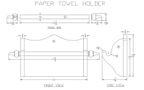 how to build an oak paper towel holder woodworking plans at