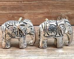 shabby chic elephant ring holder images Pewter elephant etsy jpg