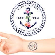 Nautical Save The Date Save The Date Temporary Tattoos Groovi Custom Temporary Tattoos