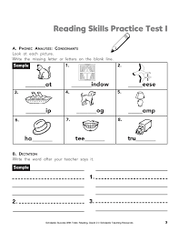 Grade 2 French Immersion Worksheets Give Your Child This Printable Reading Practice Test On Phonics