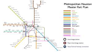 Iah Map Houston Rail Proposal Fantasy Map Houston