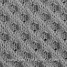 honeycomb knitting stitch pattern knitting bee