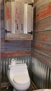 rustic bathroom reclaimed barn siding and galvanized steel