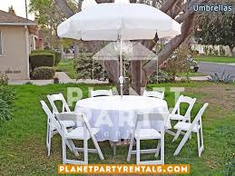 Folding Patio Set With Umbrella Patio Umbrellas Round White Umbrella Rentals