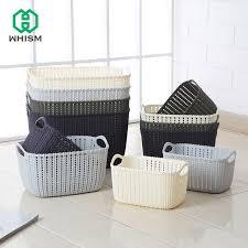 bathroom boxes baskets imitation rattan storage basket hollow plastic kitchen bathroom