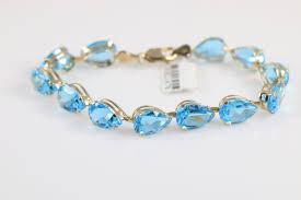 blue topaz bracelet images 10k yellow gold blue topaz bracelet 12 9g JPG