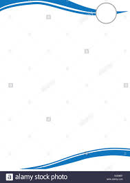 template for letter head blue wave letterhead template with circle for logo stock photo blue wave letterhead template with circle for logo